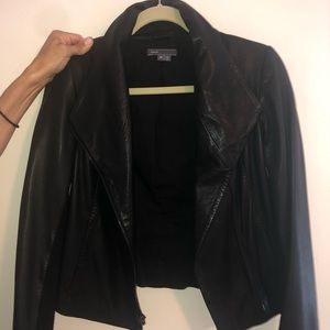 Vince Black Leather Jacket Size XS WORN 4 TIMES